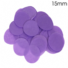 Purple Tissue Paper Confetti | 15mm Round | 14g Bag